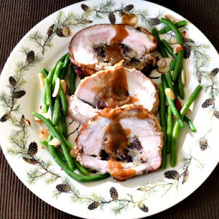 Roast Stuffed Pork Loin with Marsala Sauce.