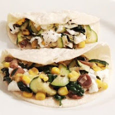 Vegetable Tacos With Goat Cheese And Truffle Oil