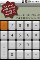 Screenshot of RPN calculator