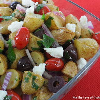 Mediterranean Roasted Potato Salad AND the Giveaway Winners
