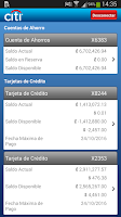 Screenshot of Citi Mobile CR