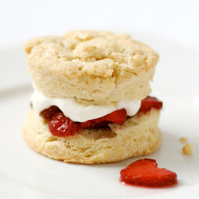 Strawberry Shortcake with Cream Biscuits