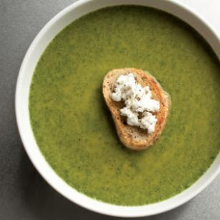 Spinach & Goat Cheese Bisque