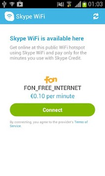 Skype WiFi APK screenshot thumbnail 4