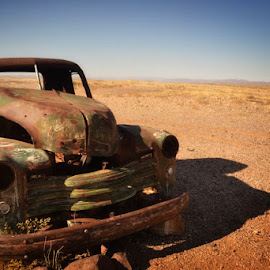 by Taryn Harverson - Transportation Automobiles ( car, desert, truck, rust, namibia )