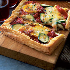 Courgette, Pepper And Mozzarella Tart With Gremolata