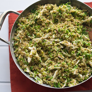 Freekeh with Chicken and Brussels Sprouts