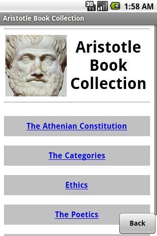 Aristotle Book Collection