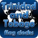 Trinidad and Tobago flag clock icon