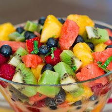 Mixed Fruit with Lemon-Basil Dressing