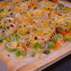 White Four-Cheese Vegetable Pizza