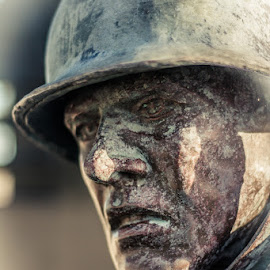 Distressed soldier by Jon Cody - Buildings & Architecture Statues & Monuments ( pensacola, memorial, florida, statues, monument, war, military )