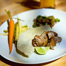 Carnitas with Spicy Pickled Vegetables and Cactus Salad