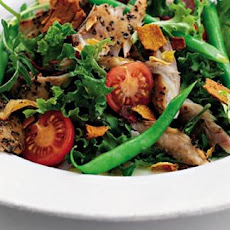 Pepper Mackerel Salad With Vegetable Crisps