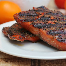 Pepper-Crusted Maple-Glazed Salmon