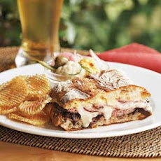 Roast Beef & Balsamic Onion Panini with Chipotle Chips