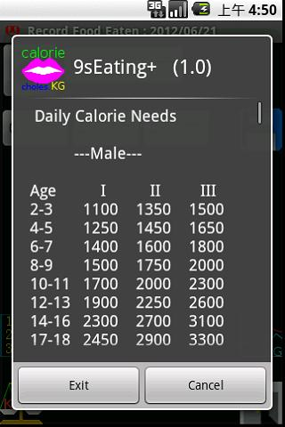 Watch Daily Calorie chol. demo