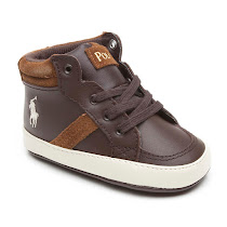 Ralph Lauren Leather Pram Trainer HIGH TOP