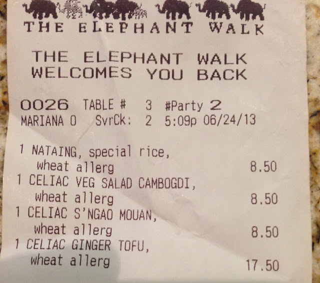 They take celiac very seriously, look how items are entered!