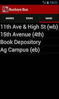 Screenshot of Buckeye Bus Tracker