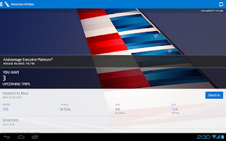 Screenshot of American Airlines