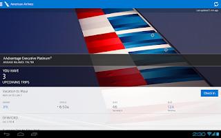 Screenshot of American Airlines