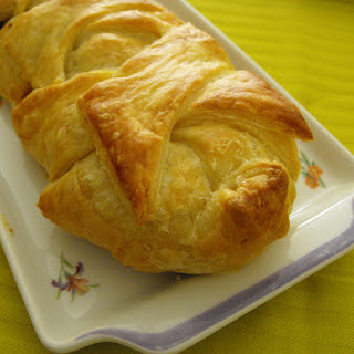 Cabbage and Sausage Stuffed Puff Pastry