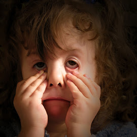 Little Girl by Terrence Pellikaan - People Family ( girl, dark, funny, people, portrait )