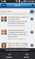 Screenshot of PolitiFact's Settle It!