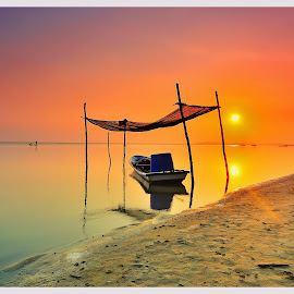 golden morning by Genx Cheq - Landscapes Sunsets & Sunrises ( water, device, transportation )