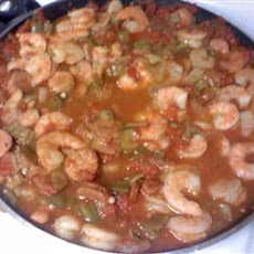 Easy Creole Okra and Shrimp