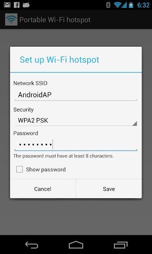 Portable Wi-Fi hotspot - screenshot