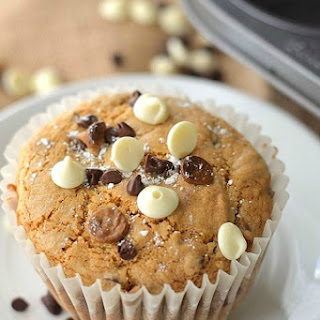 Triple Chocolate Chip Cookie Muffins