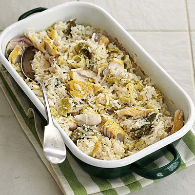 Baked Haddock & Cabbage Risotto