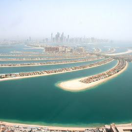 Birds eye view of the Palm by Natalie Woodhead - Landscapes Travel ( water, dubai, travel,  )
