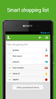 Screenshot of Grocery Shopping List Listonic
