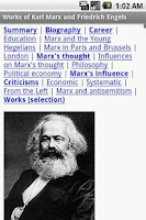 Screenshot of Works of Marx and Engels