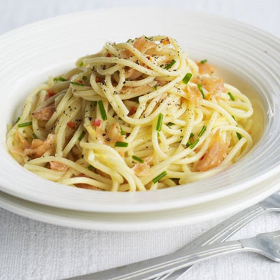 Smoked Salmon Spaghetti With Chilli & Lemon