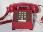 Desk Phones - Western Electric 1500 Red