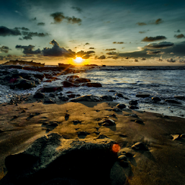 At Cemagi Beach by Ferdinand Ludo - Landscapes Sunsets & Sunrises ( bali, cemagi beach, indonesia, sunset )