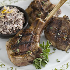 Grilled Lamb Chops with Tapenade Butter