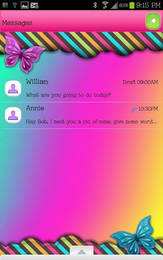 GO SMS - Sweet Rainbow