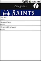 Screenshot of Audio Catholic Saints