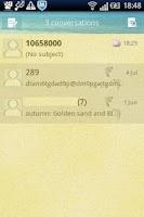 Screenshot of Easy SMS Beach theme