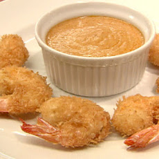 Coconut Shrimp with Red Curry Sauce