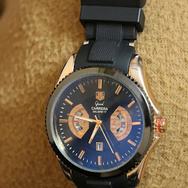 Tag heuer by Rahul Shakya - Artistic Objects Clothing & Accessories ( tag heuer, strap, expensive, watches, golden, costly )
