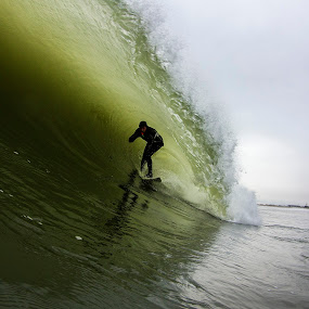 Barreled on Thanksgiving by Dave Nilsen - Sports & Fitness Surfing