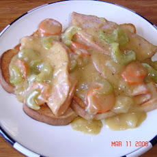 Open Faced Savory Hot Turkey Sandwiches