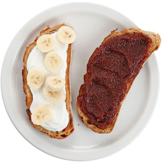 Fromage Blanc, Banana, and Membrillo Sandwich