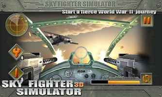 Screenshot of 3D Sky Fighter Simulator